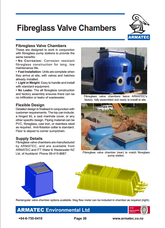 Download the Fibreglass Valve Chambers Handbook