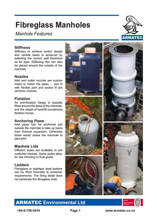 Download the Fibreglass Manholes Handbook