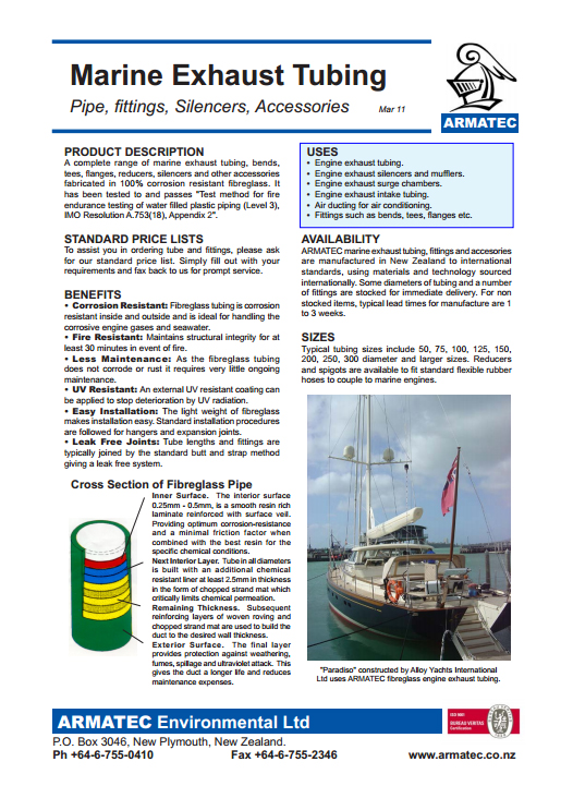 Download the Marine Exhaust Tubing Handbook