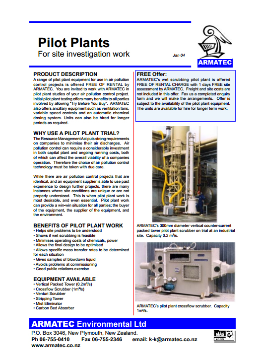 Download the Pilot Plant Handbook