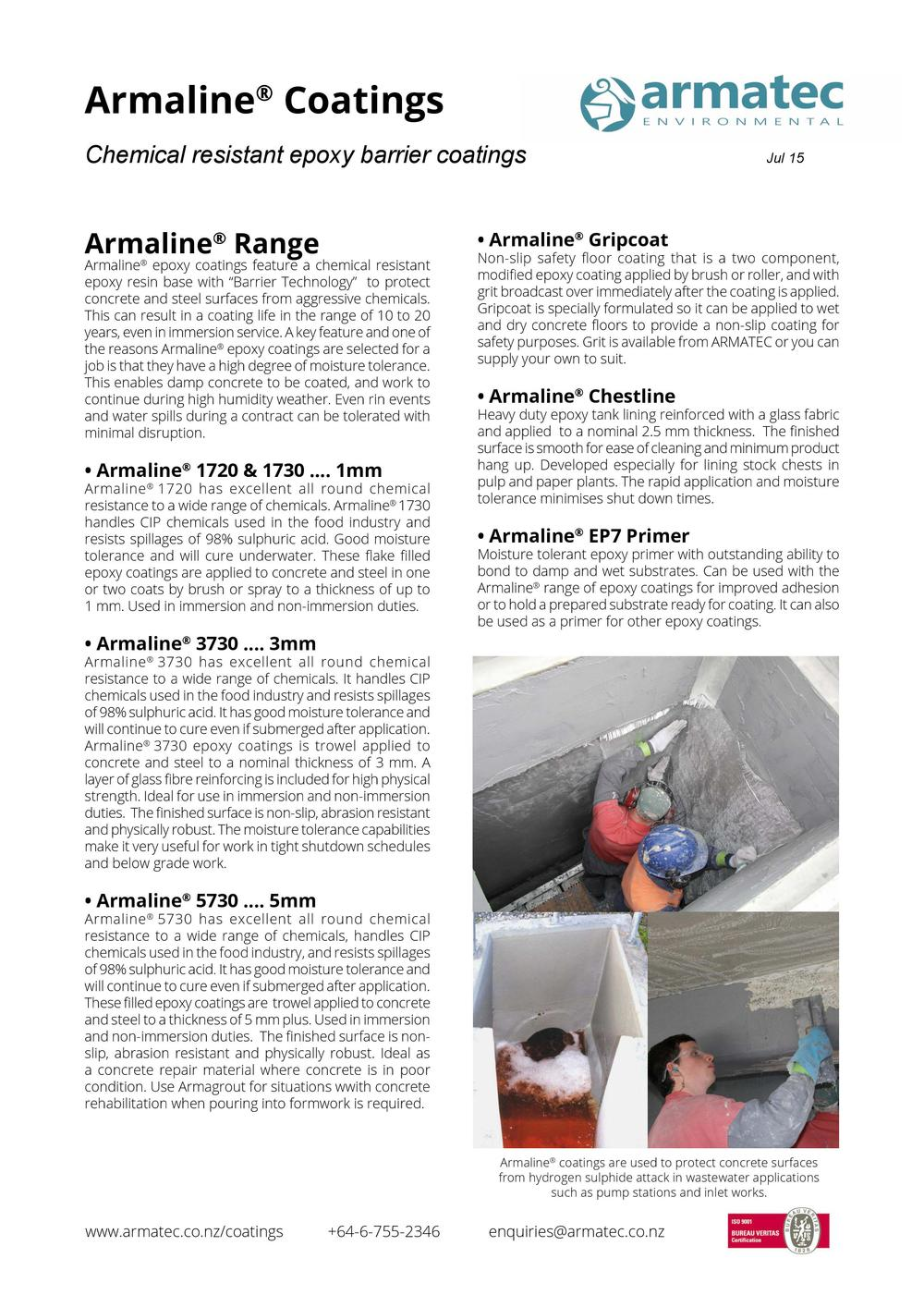 Download the Armaline Epoxy Coatings Handbook