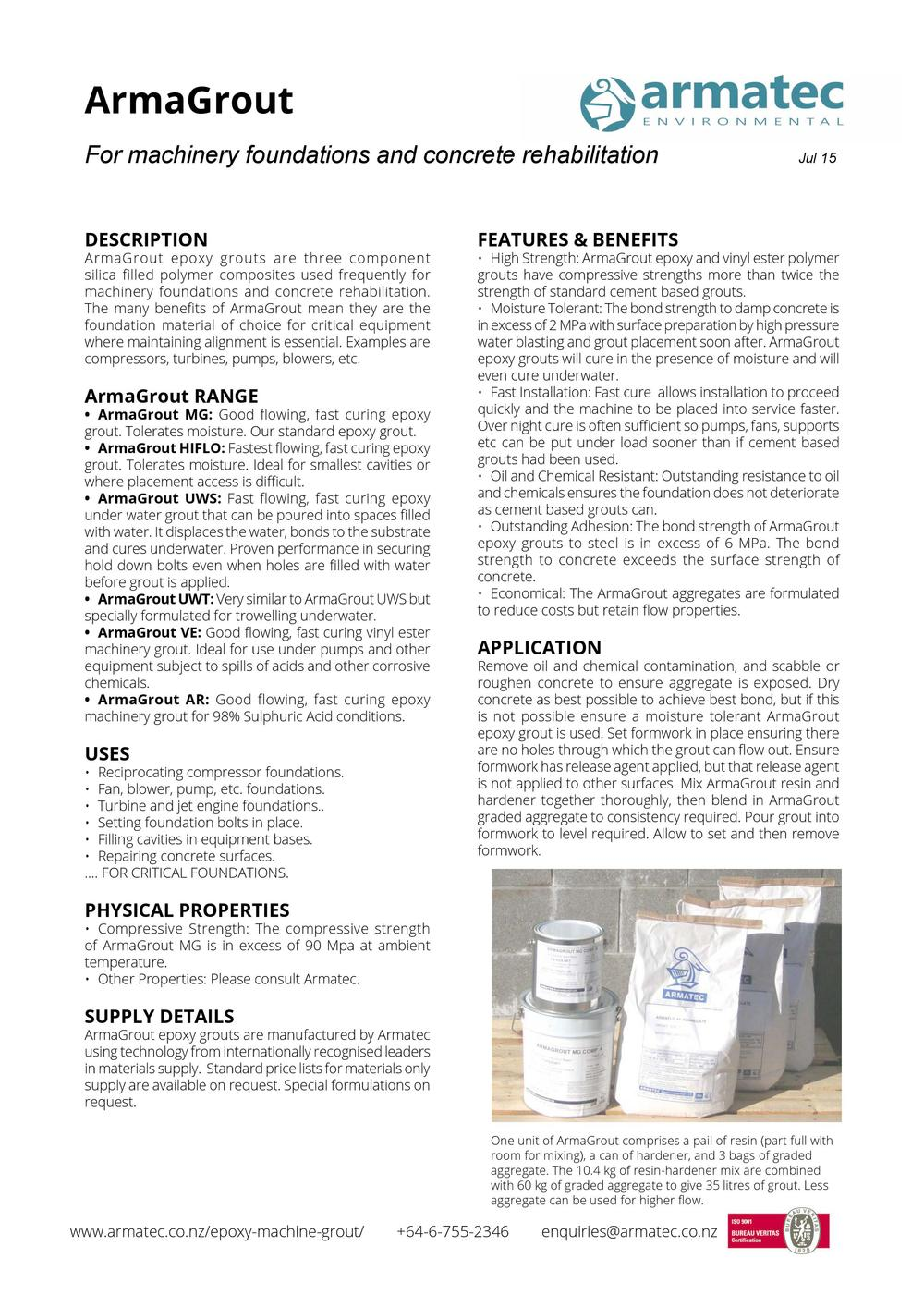 Download the Epoxy Machine Grout Handbook