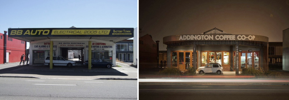 Addington Coffee Co-op - before and after.