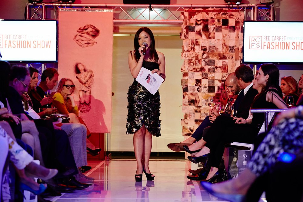 Driving the show's global credibility was the glamorous and sophisticated celebrity Master of Ceremonies Jen Su