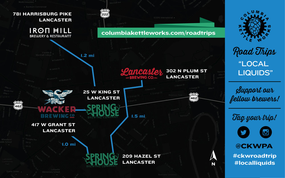 Click image to open in Google Maps. Tag your trip! #ckwroadtrip   #localliquids