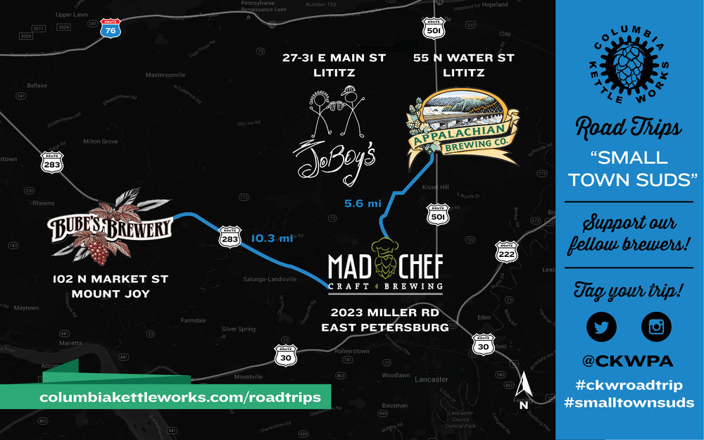 Click image to open in Google Maps. Tag your trip! #ckwroadtrip # smalltownsuds