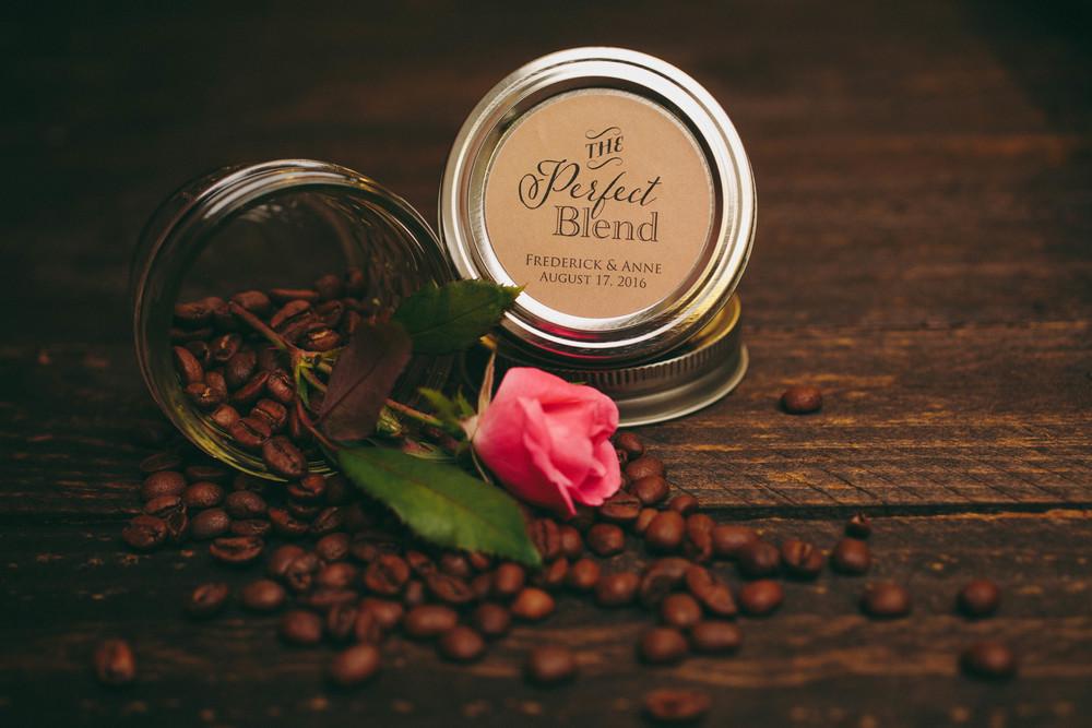 The Perfect Blend A Wedding Favor Idea Backyard Beans Coffee Co