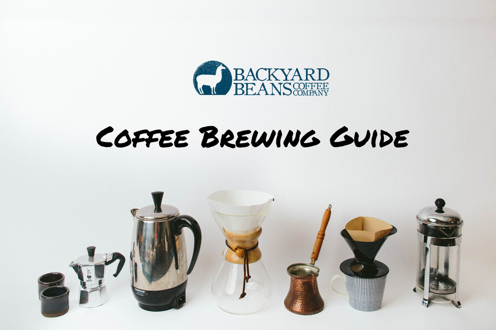 BACKYARD BEANS, COFFEE BREWING GUIDE.