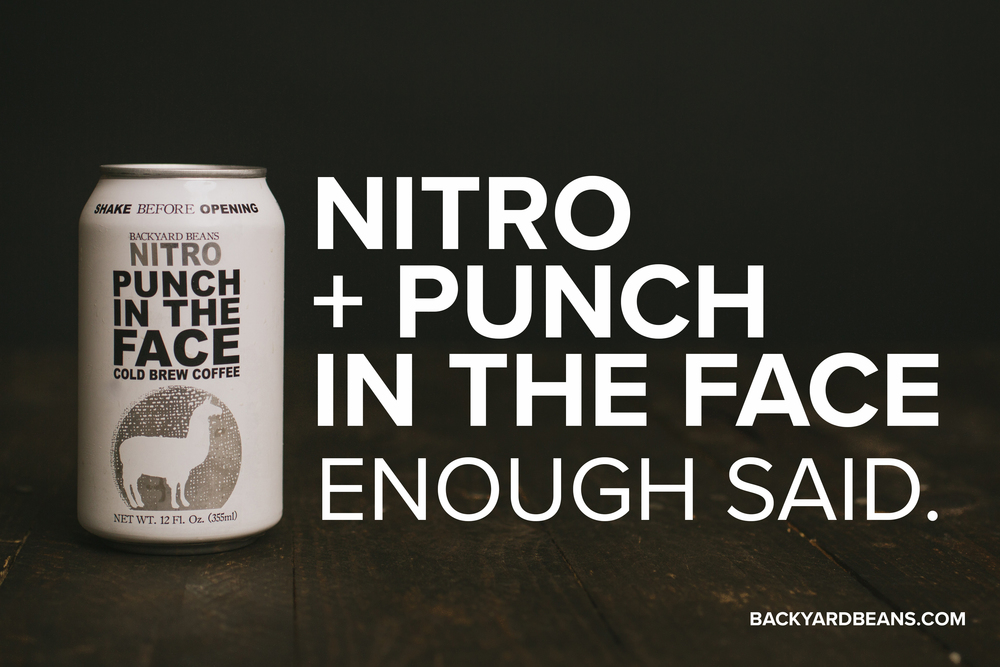 Backyard beans Nitro cold brew can.