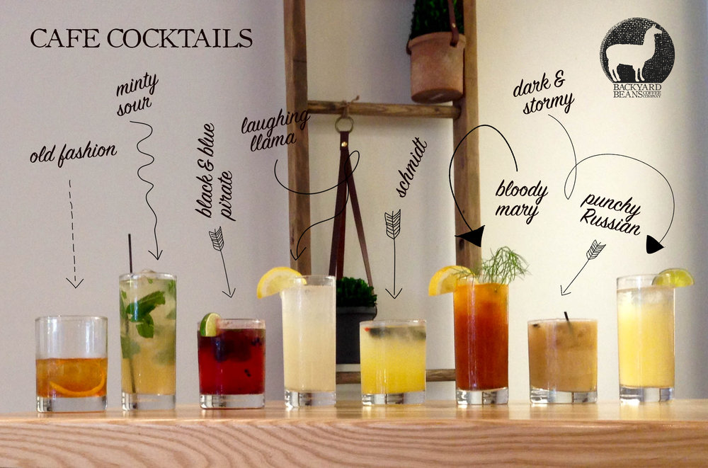 Cocktails at Backyard Beans Coffee Co.