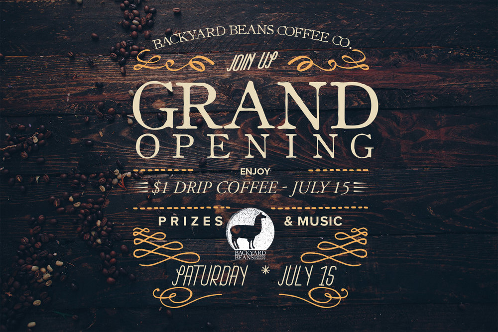 Backyard Beans Cafe Grand Opening