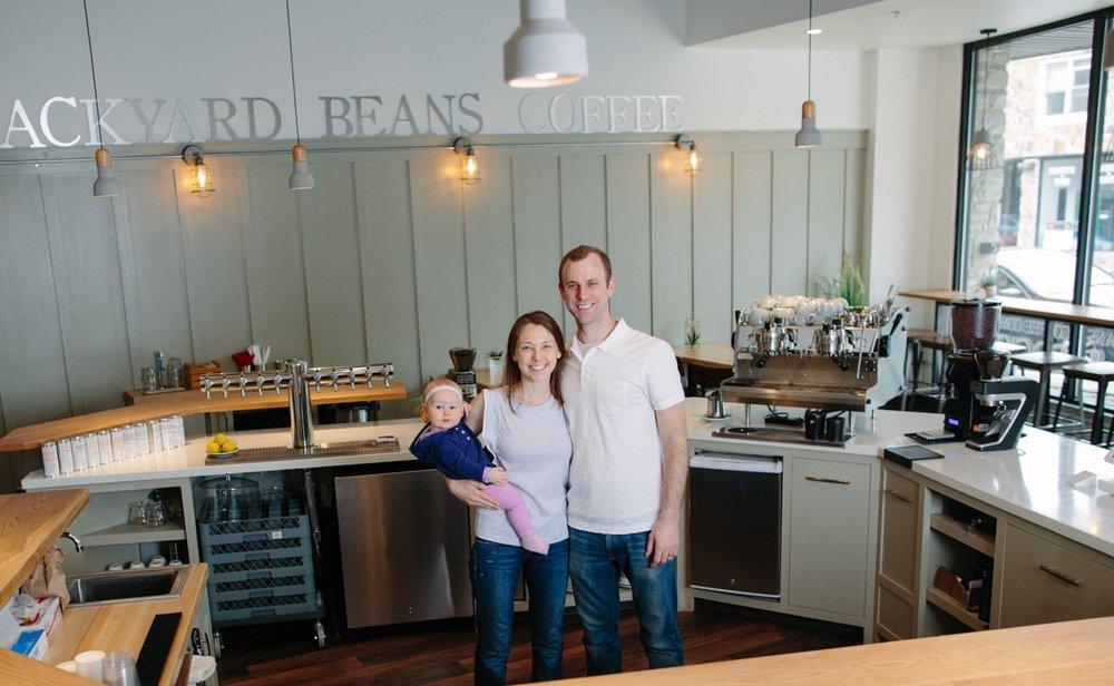 Founders Matthew and Laura Adams - Backyard Beans Coffee Co.