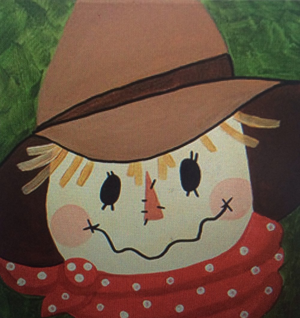 Kids will paint their own scarecrow!