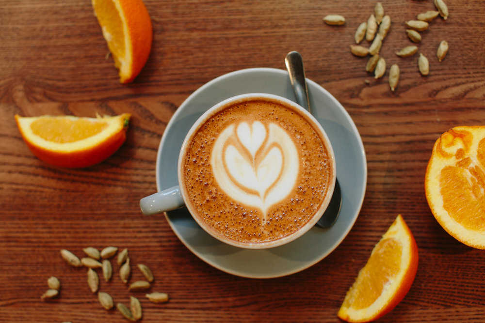 The Orange Spice Cappuccino