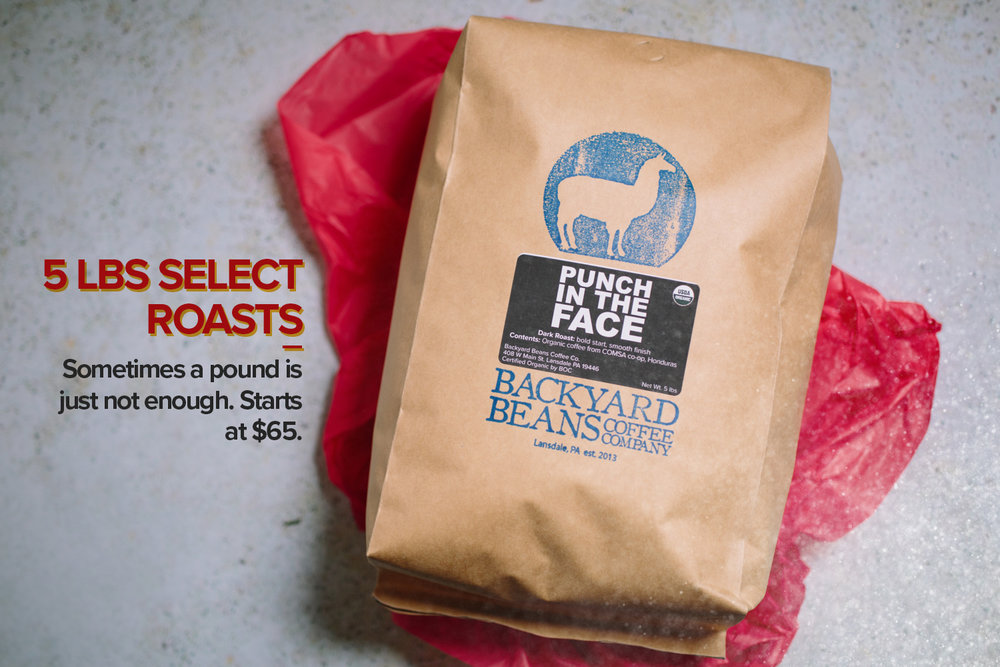 5 pound coffee bag