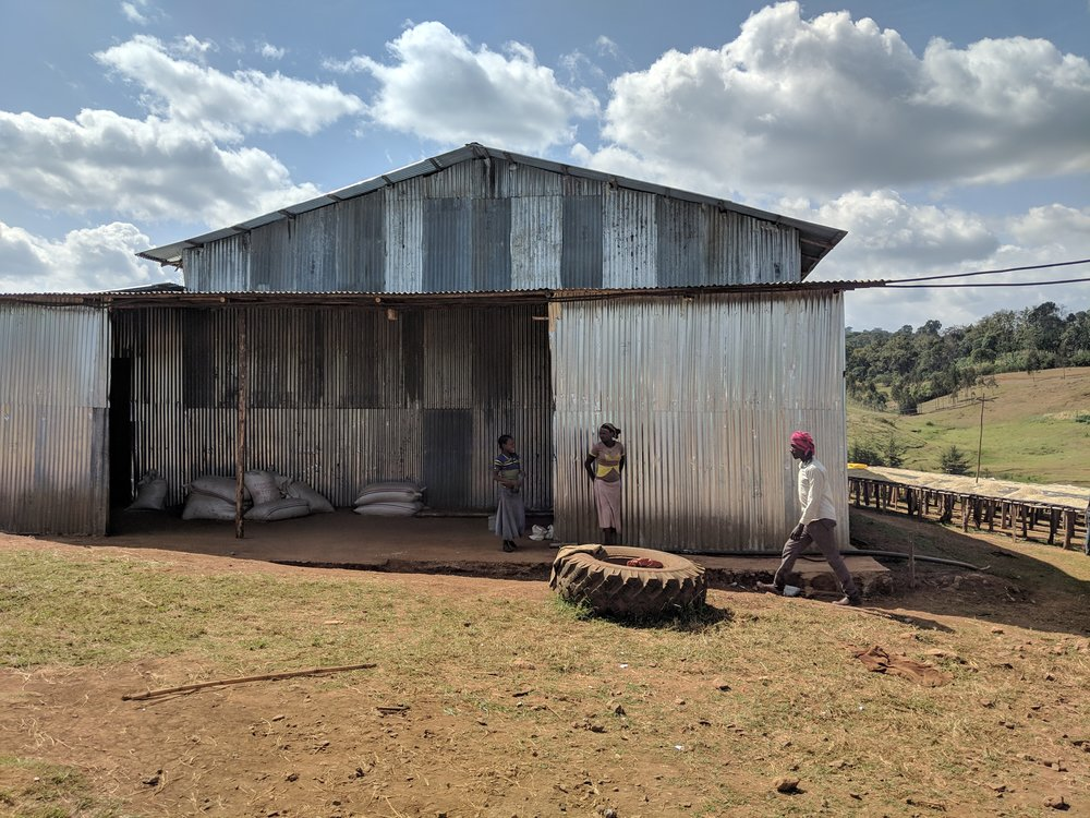Warehouse for dried coffee at Uraga