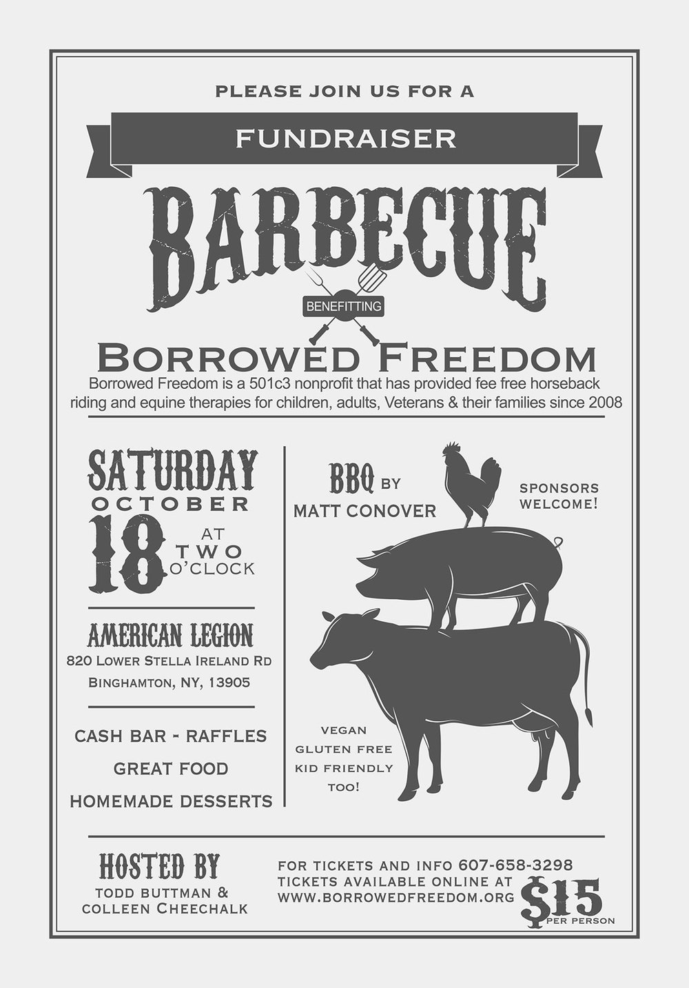 Borrowed Freedom benefit fundraiser 10/18/20014 click to visit BFEAT for more info