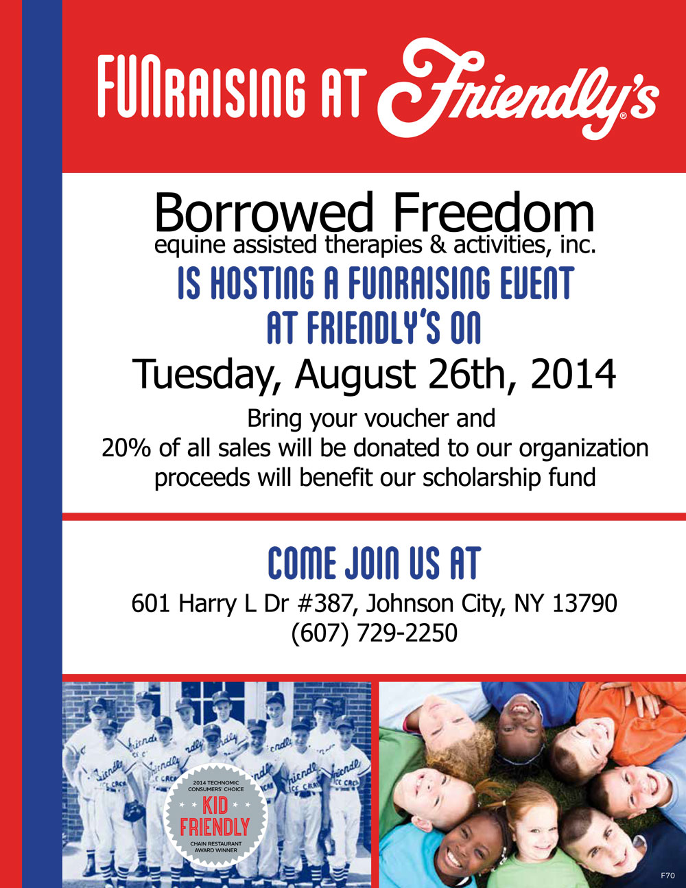 Friendly's Fundraiser 8/26/2014!