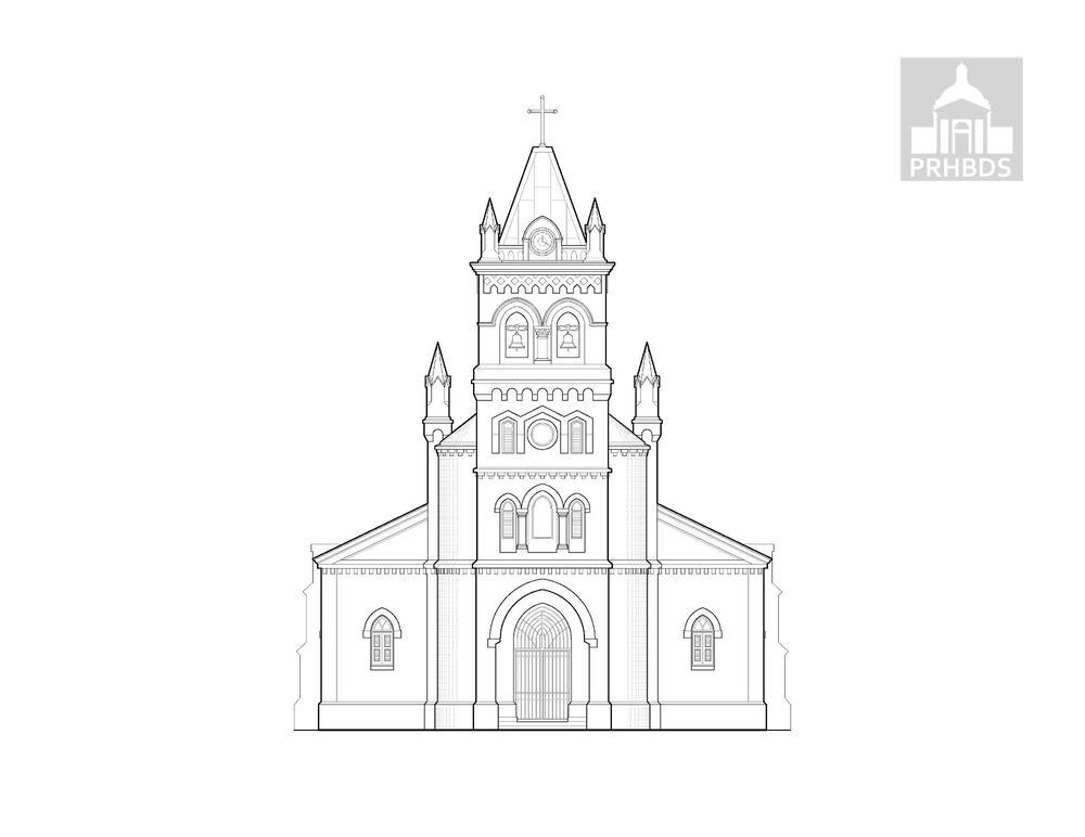 Concatedral Dulce Nombre de Jesús (1869 y 1876)   Humacao, Puerto Rico    Diseñado por Evaristo de Churruca y Brunet (1841-1917)