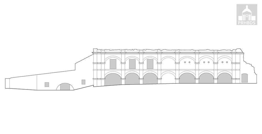 Hacienda Azucarera Santa Elena (1790-1910)   Alzado Oeste   Toa Baja, Puerto Rico