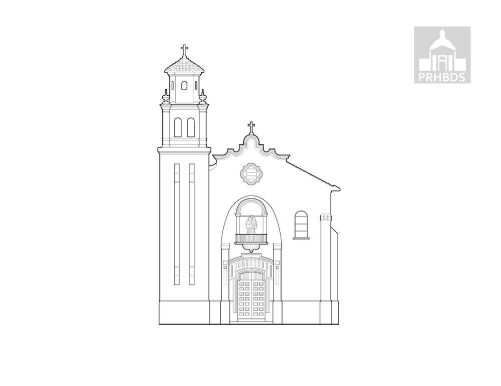 Parroquia San Antonio de Padua   Calle Muñoz Rivera #6   Barranquitas, Puerto Rico    Diseñada por Francisco Luis Porrata-Doria (1933)