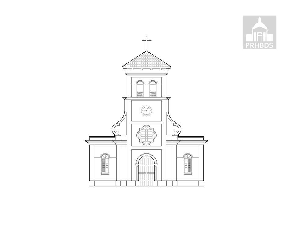 Parroquia Nuestras Señora del Carmen   Hatillo, Puerto Rico    Diseñada por Pedro Beibal en (1879)   Estado Actual (1930)