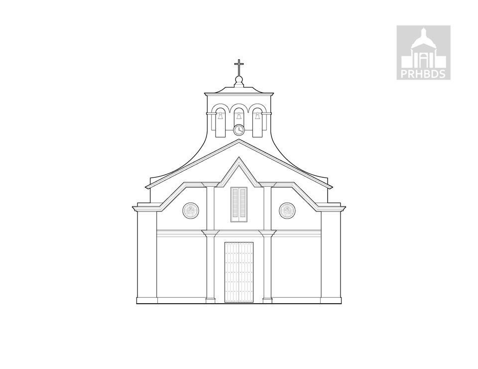 Parroquia Inmaculada Concepción (1827)   Juncos, Puerto Rico    Fachada actual (1961)