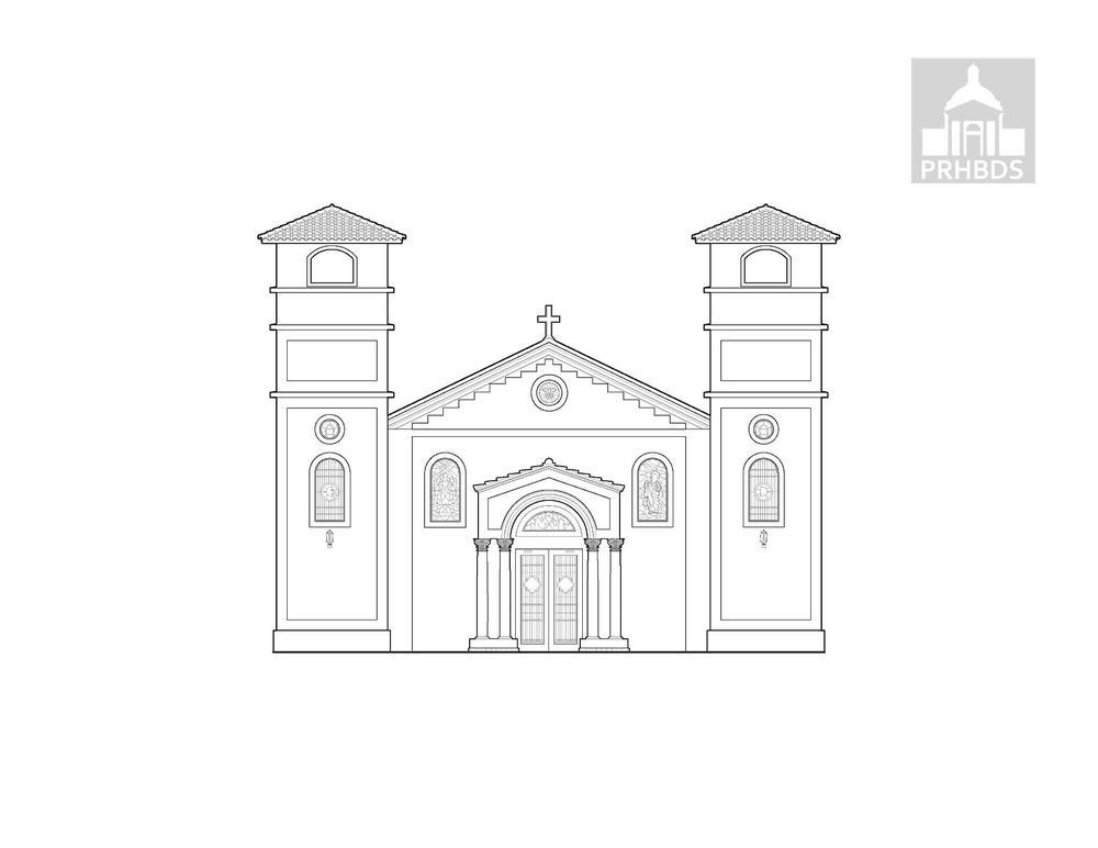 Parroquia Nuestra Señora de la Candelaria (1897)   Lajas, Puerto Rico    Fachada actual reconstruida en el 2003