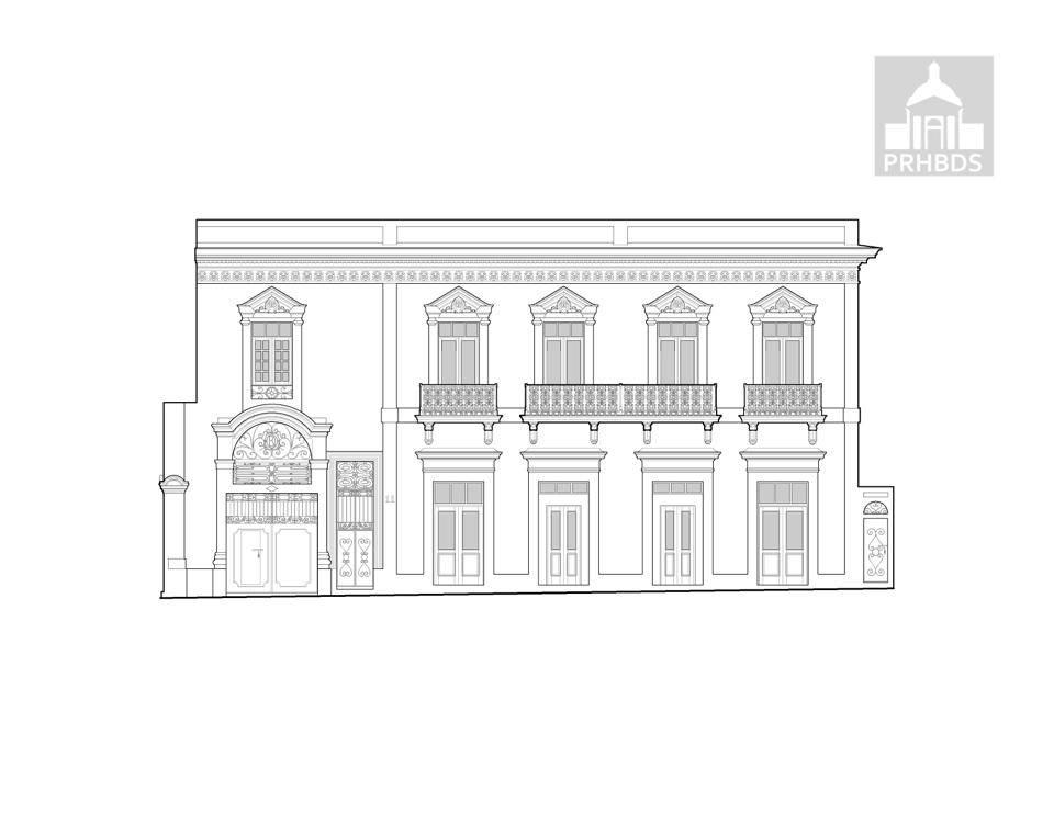 Casa en la calle León 11   Ponce, Puerto Rico    Diseñado por Manuel V. Domenech (1894)