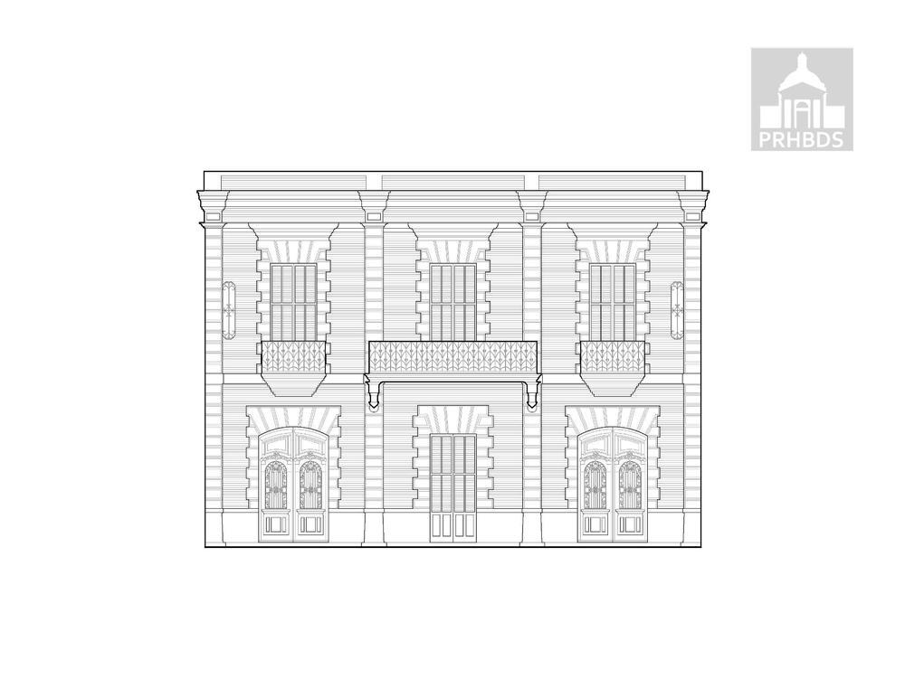 Casa Fernando Vendrell    Calle Amor No. 3 (Paseo Antonio S. Arias Ventura) Fachada Norte   Ponce, Puerto Rico     Diseñado por Manuel V. Domenech (1895)