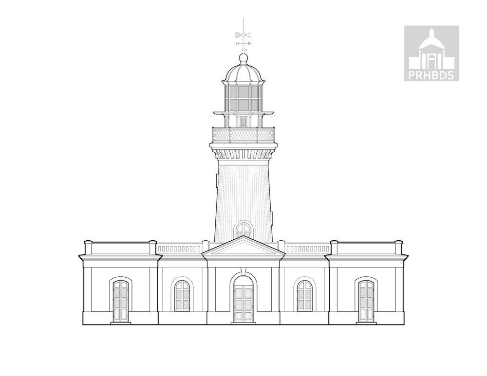 Faro Caja de Muerto - Caja de Muerto Lighthouse   Ponce, Puerto Rico    Designed by: Manuel Maese (1887)
