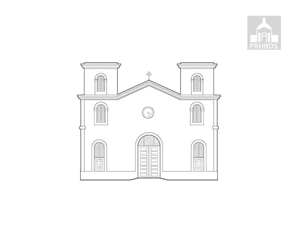 Parroquia Santiago Apóstol (1871 y 1899)   Santa Isabel, Puerto Rico.    Diseñado por Pedro Cobreros   Estado actual 1965