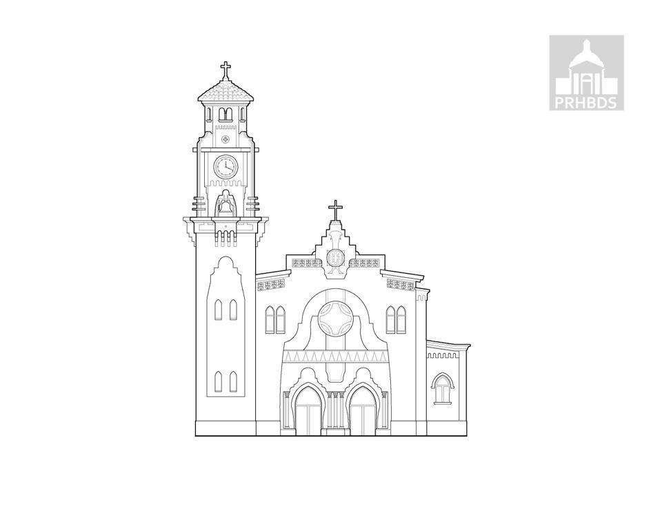 Parroquia Santísimo Rosario (1934)   Yauco, Puerto Rico    Arq. Francisco Porrata Doria.