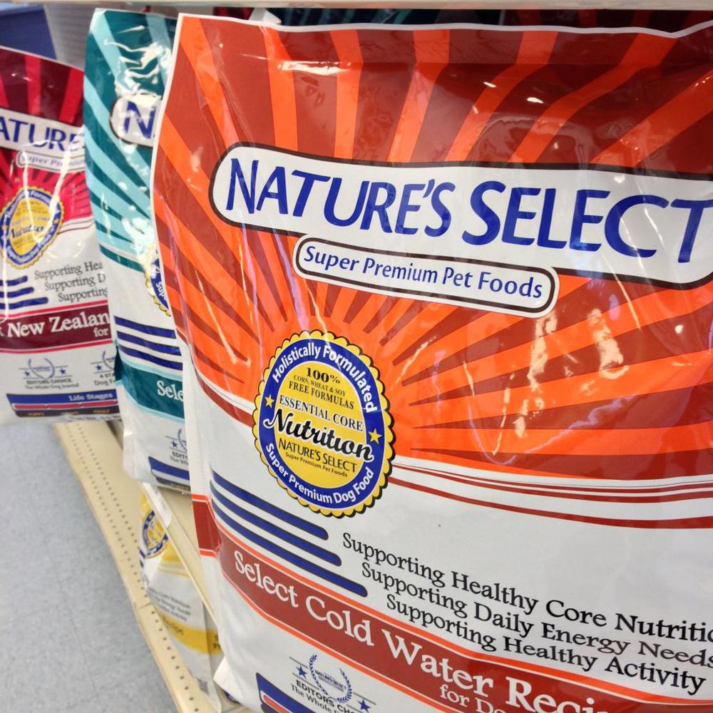 natures select dog food