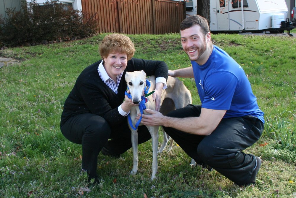 Jo and Matthew came with her son and they adopted a beautiful light fawn. She was called Wendy but is now called Tasha.