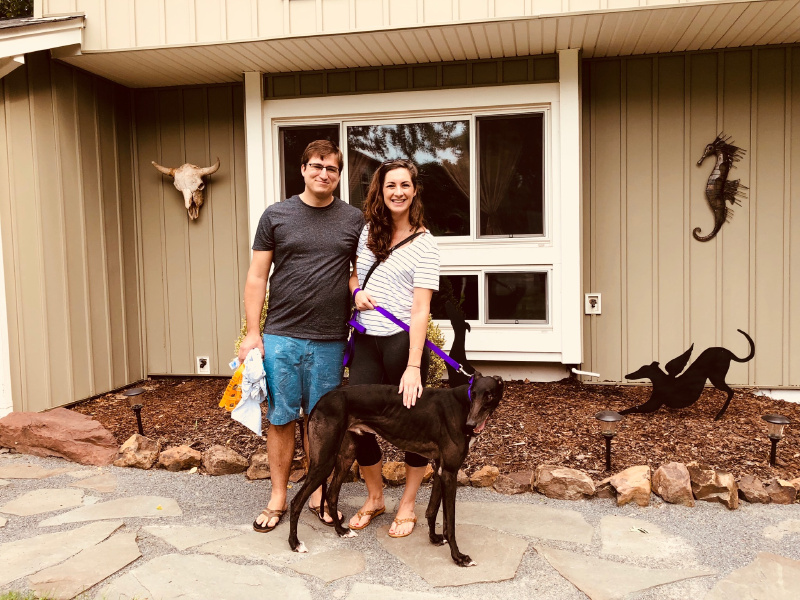 Stephanie has been waiting for several long months for the right Grey. Cairo finally arrived! A beautiful sweet boy who loves to relax next to you and just take everything in. Stephanie is so excited to have a new buddy at home!