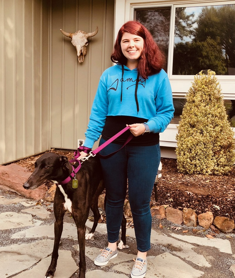Rachel was so happy to finally meet her sweet ,shy girl, Paisley! Paisley connected with Rachel immediately! Paisley will enjoy lounging at home, playing and taking fun walks with her buddy, a small beagle.  Congratulations Rachel and Paisley!