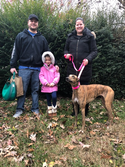 Lindsey and family were so happy to meet Freya! Freya is a bit shy but but warms up to you easily. She will be well loved and spoiled by her new family. Congratulations to the family and Freya!