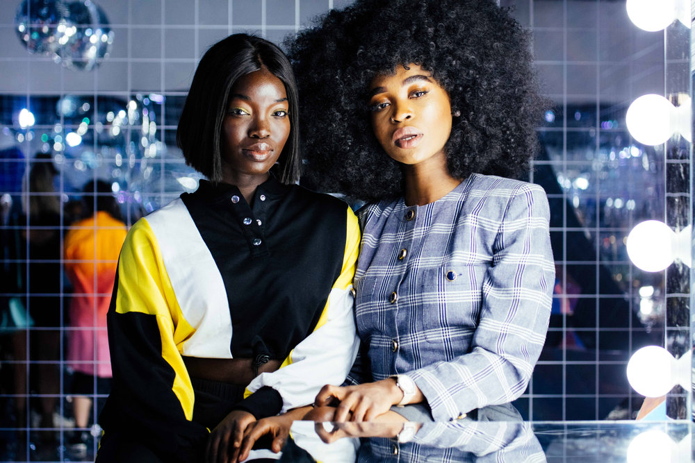 Models Dora Owusu and Nneka Ibeabuchi