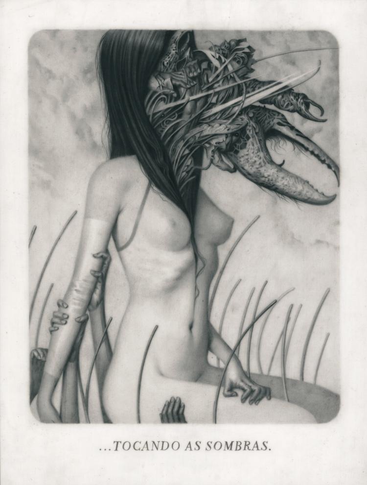 """ Le Sacre du Printemps IX – Through "" Graphite on Paper, Vellum and Acetate 20 x 27 cm"