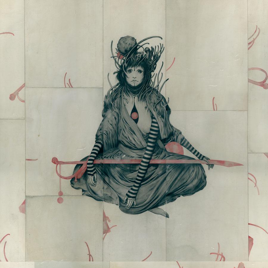 Ripper Acrylic on Paper, Board 70 x 70 cm