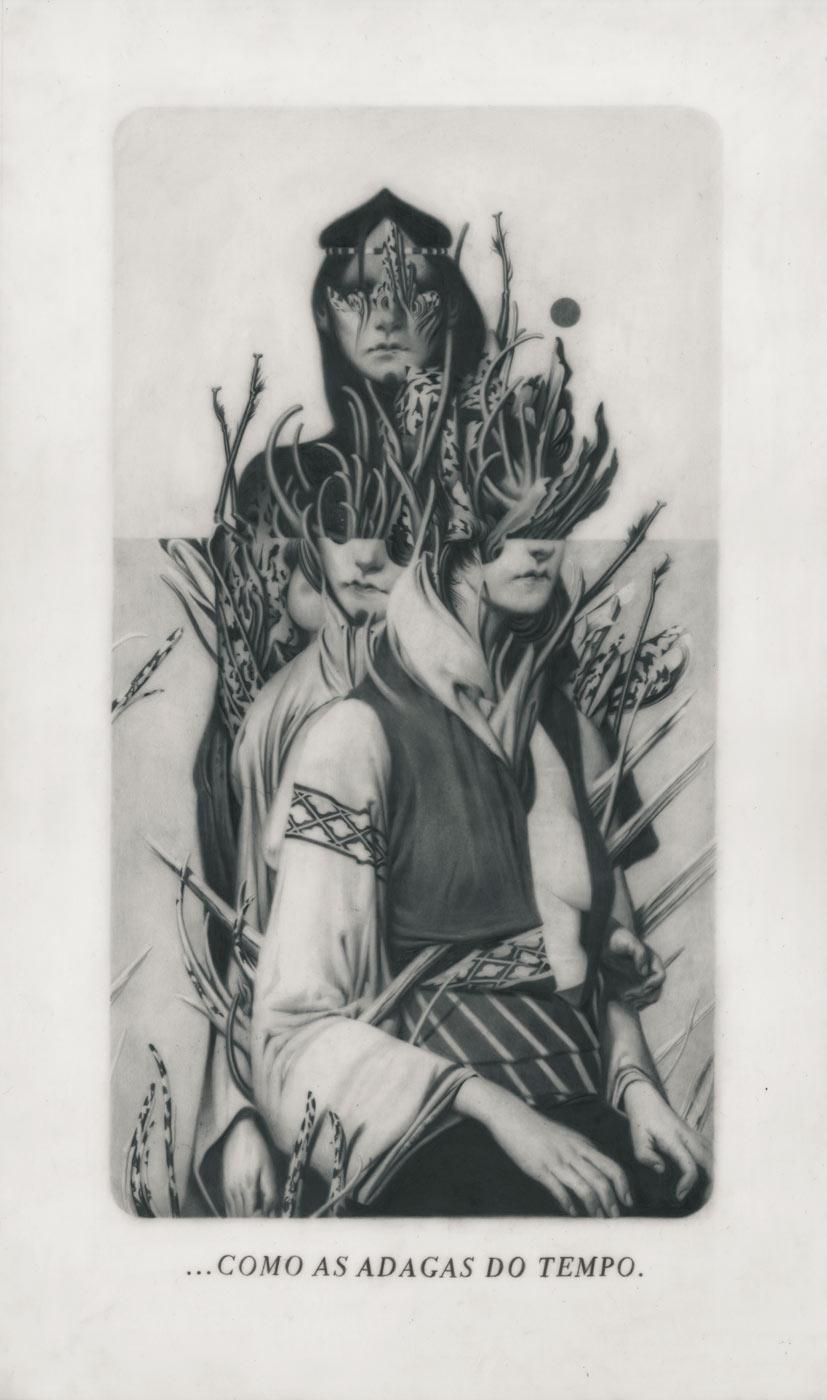 Le Sacre du Printemps XI – Ancestors Graphite on Paper, Vellum and Acetate 22,4 x 38,1 cm