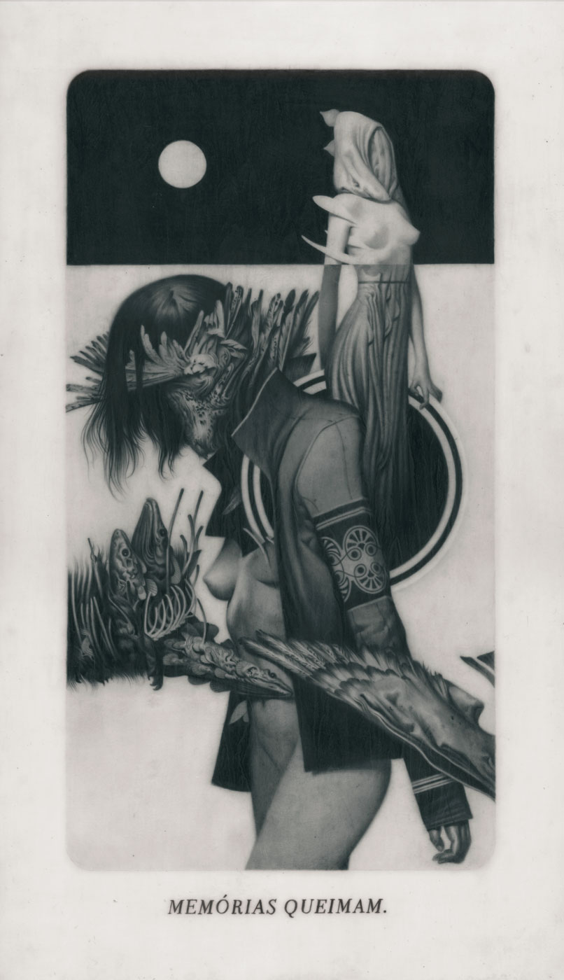 Le Sacre du Printemps XII – Despair Graphite on Paper, Vellum and Acetate  22,4 x 38,1 cm
