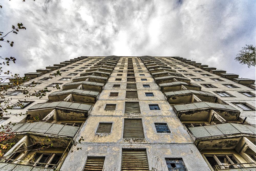 16 verdiepingen en geen lift..