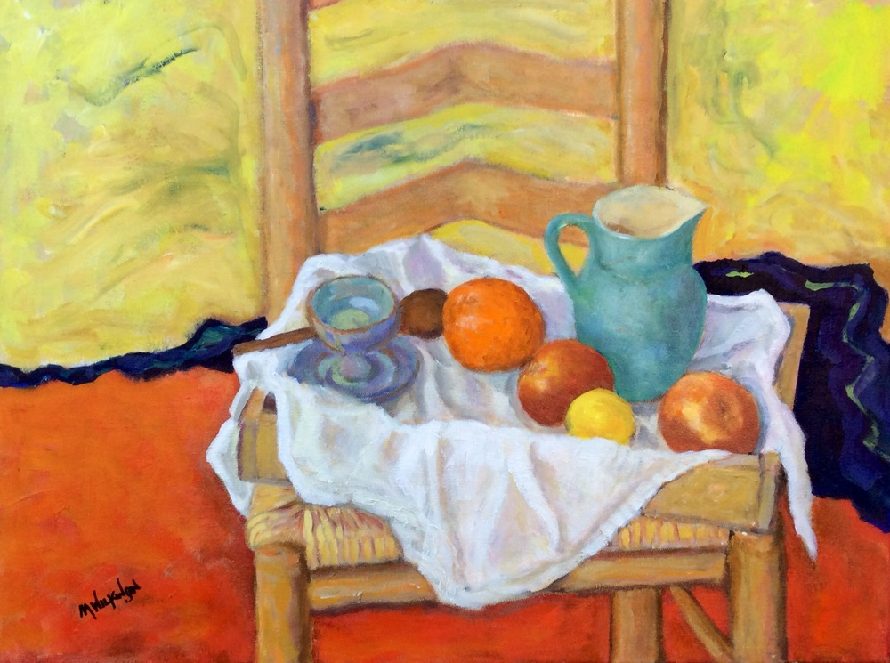 still life on a tray