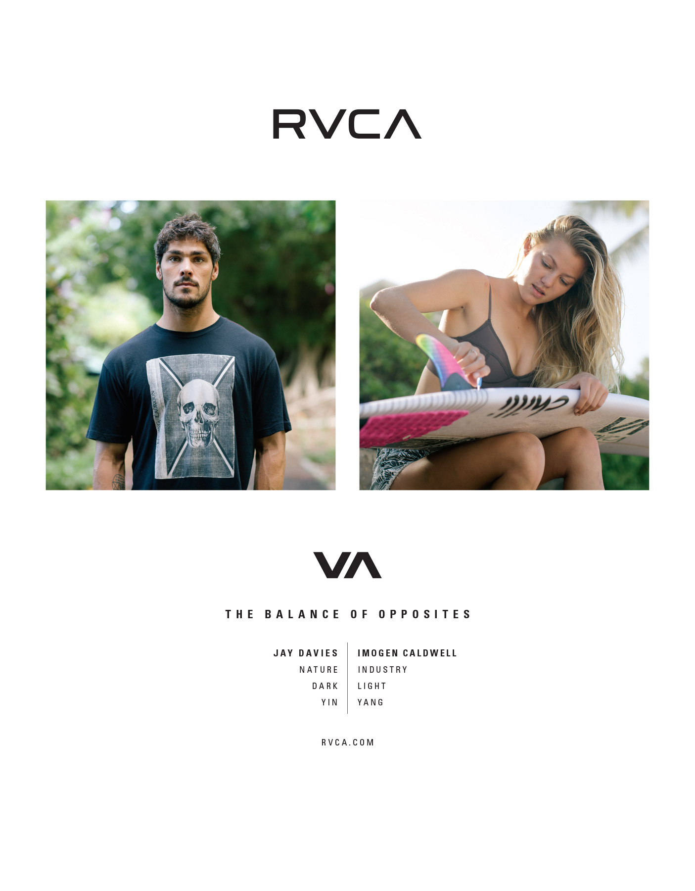 new RVCA advertising
