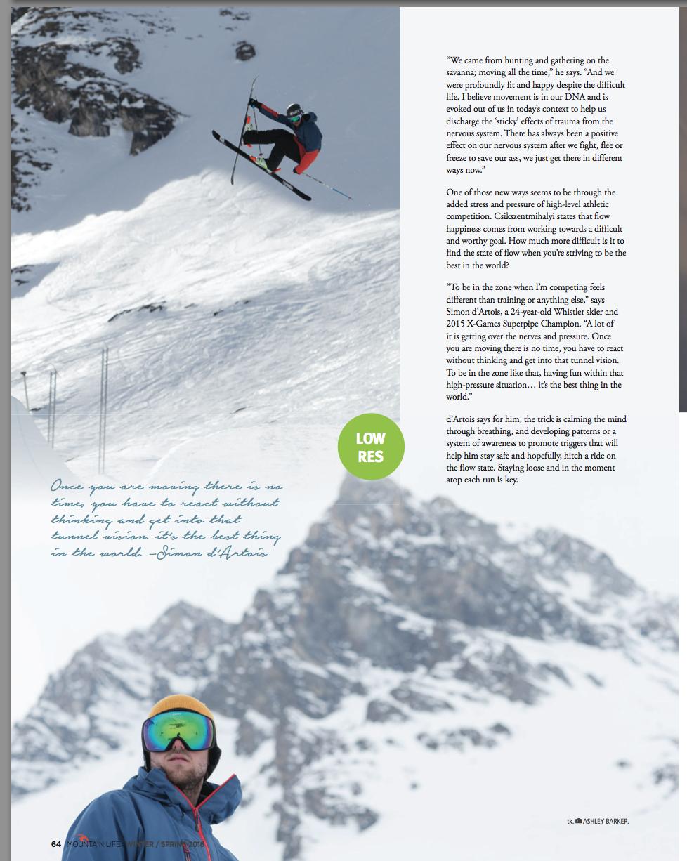 Simon D'Artois in Mountain Life Magazine photography 1