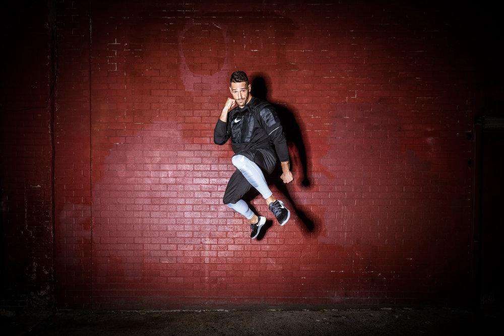 noah neiman nike photography training outdoors night ringflash flash Ashley Barker barkerfoto