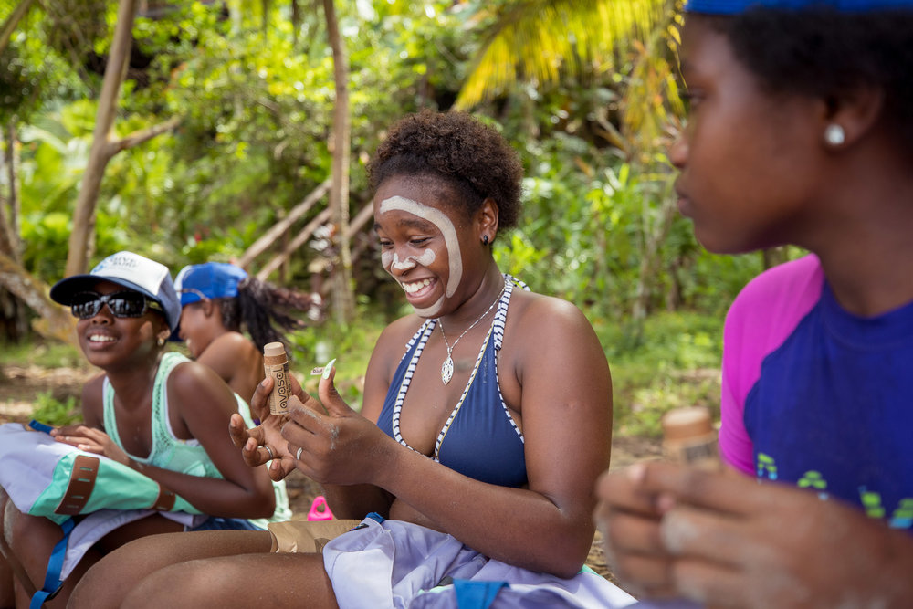 Part of the education we brought to girls was about shopping consciously and using less single use plastics, more refillable water bottles, reusable bags, bamboo toothbrushes, and reef safe sunscreen like Avasol Zinc.