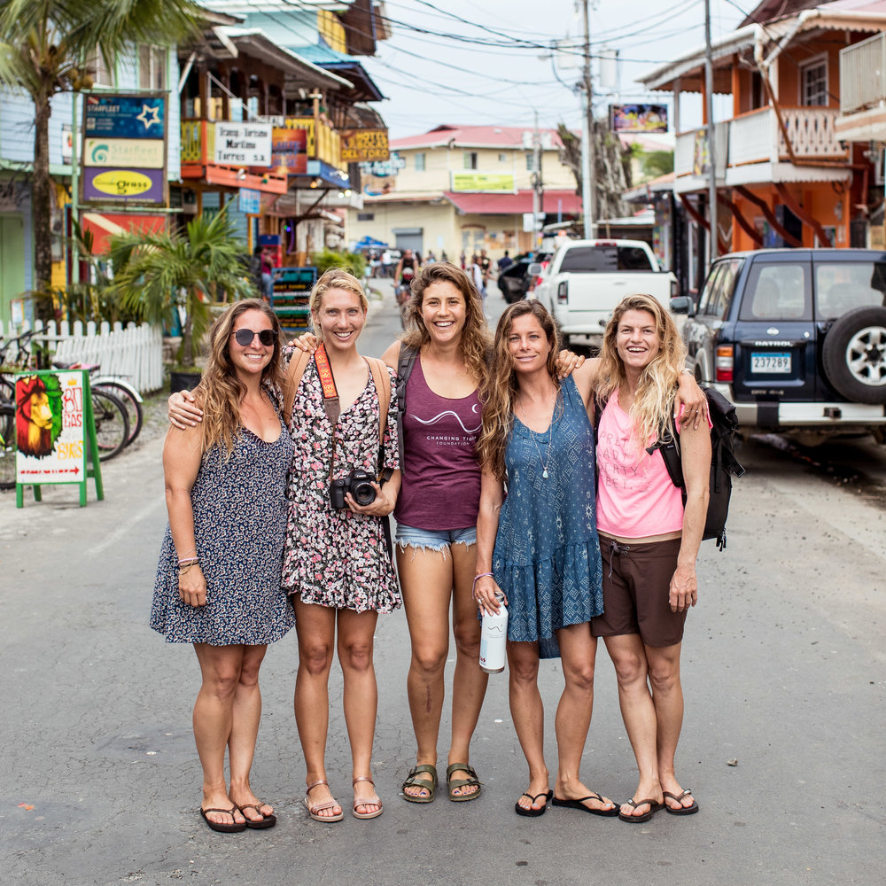 CTF crew arrived in Bocas del Toro to meet Jaz the WOMP volunteer and coordinator.  This was the only island we saw cars.